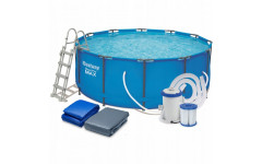 Бассейн Steel Pro Max 56420, 366х122см, 10,250л. полный комплект