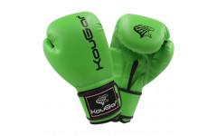 Перчатки боксерские KouGar KO500-12, 12oz, зеленый